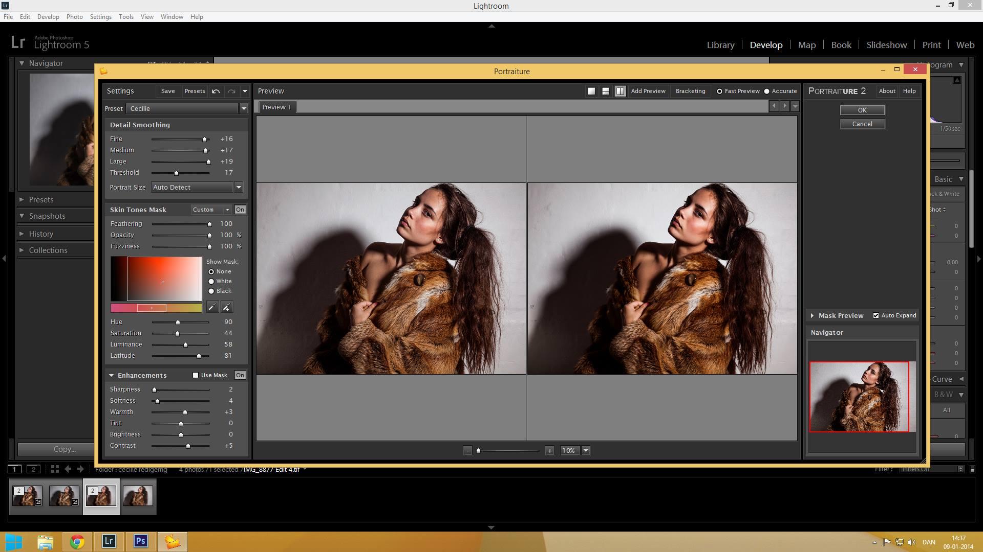 portraiture lightroom plugin