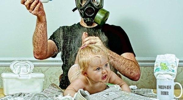 """""""Verdens bedste far"""" brillerer med fabelagtige billeder med sin datter"""