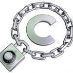 en lås beskytter ophavsretten