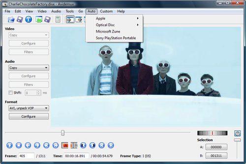 Avidemux videoredigering