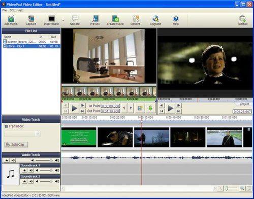 Videopad videoredigering